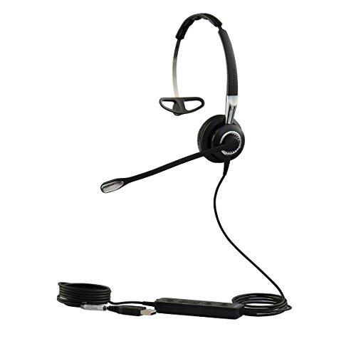 Jabra Biz 2400 II Mono USB leichtes Call-Center-Kabel-Headset für MS Skype for Business, Controller mit programmierbaren Tasten, NC, 3-in-1-Design