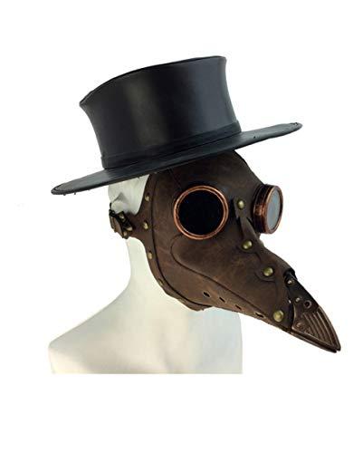 Horror-Shop Mscara De Mdico De La Peste De Steampunk Brown