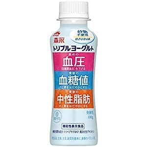 森永乳業 トリプルヨーグルト砂糖不使用 ドリンクタイプ 100g×24本
