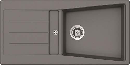 respekta by schock SEATTLE100X50G diskbänk, betonggrå