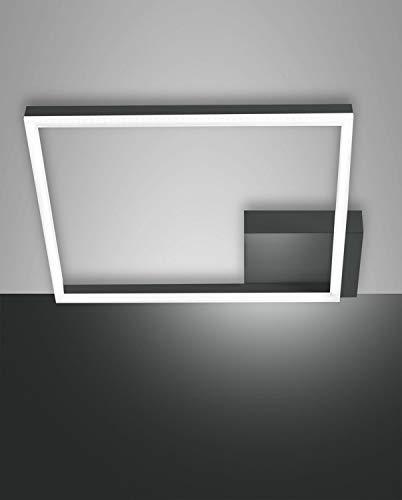 FABAS LUCE 3394-61-282 Plafón Bard LED DIM 39 W 3510 lm antracita L42 x 42 cm