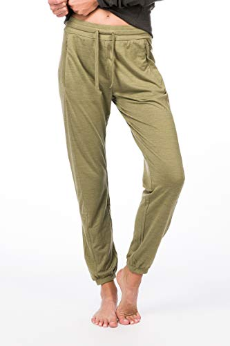 super.natural Active Pantalon de survêtement en Laine mérinos pour Femme XS Bamboo Melange