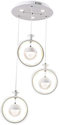 LED hanglamp moderne minimalistische eettafel hanglamp drie glazen bol hanglamp persoonlijkheid creatief restaurant/woonkamer/kantoor/bar/café-kroonluchter plafondlamp