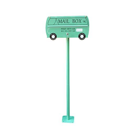 Paal Mail Box, Auto Styling Amerikaanse mailbox, Decoratieve Fotografie Props Letter Box Outdoor Waterdichte mailbox Groen