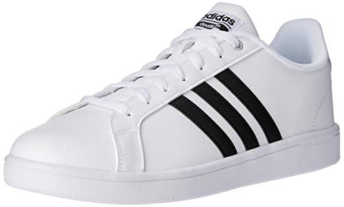 adidas Herren Cloudfoam Advantage Sneaker, Grau (Ftwwht/cblack/ftwwht), 44 2/3  EU
