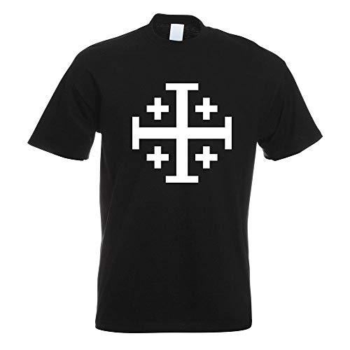 Jerusalemkreuz T-Shirt Motiv Bedruckt Funshirt Design Print