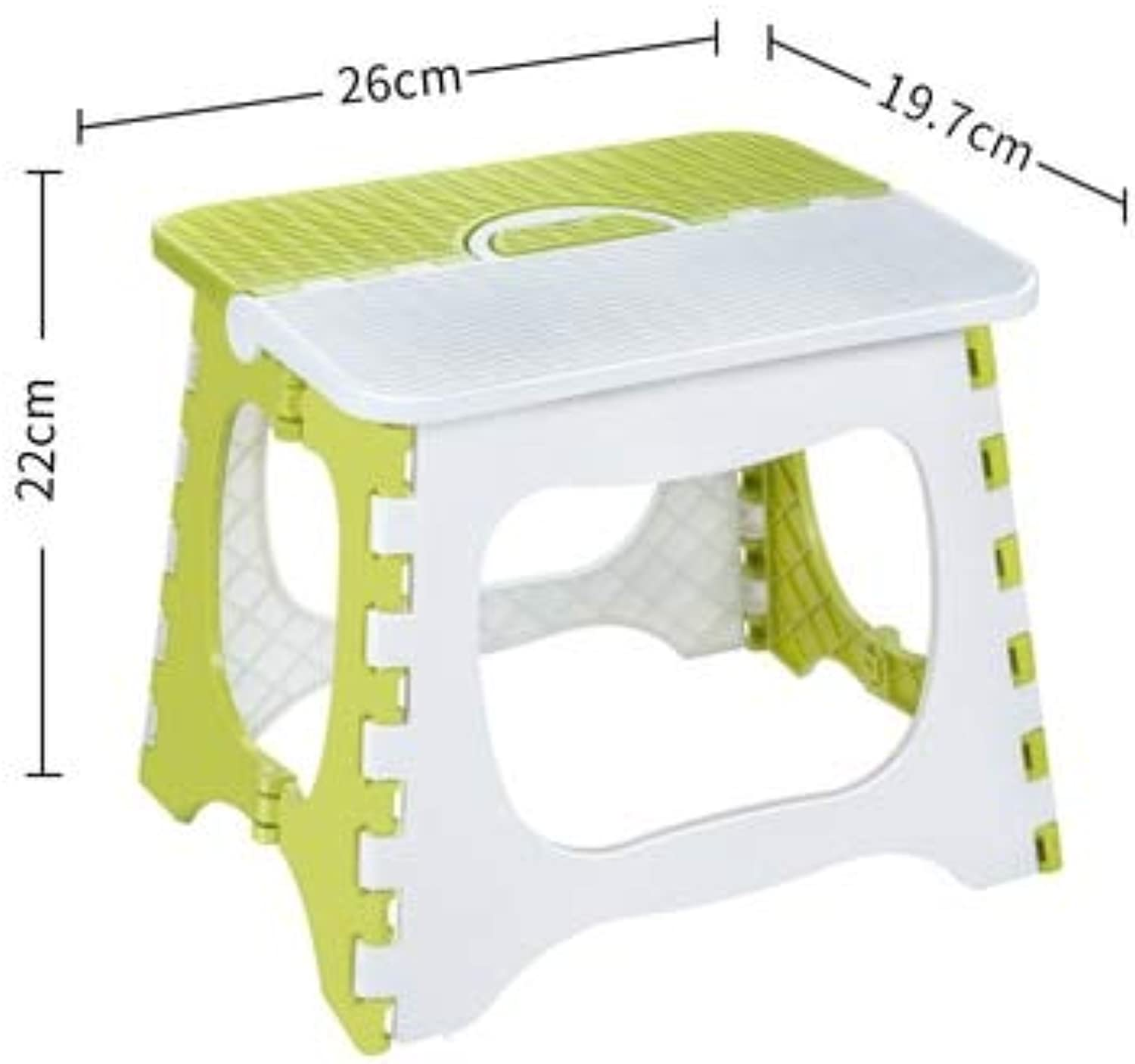 Folding Plastic Chairs Step Stool Modern Plastic Stool Folding Simple Chair Household Modern Simple Bench Living Room Home Indoor Portable Stool A Style Medium