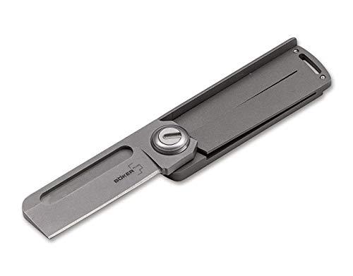 Böker Plus Rocket Titan Taschenmesser aus 9Cr13CoMoV-Stahl und Titan in der Farbe Grau - 10,70 cm