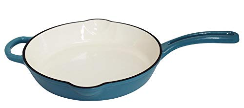 Mirro MIR19061 12quot Cast Iron Skillet 12 Inch Teal
