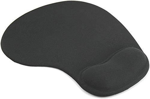 zyh Soporte DE MUÑECA DE Descanso para PC PORTÁTIL,Alfombrilla para ratón Negra Antideslizante Comfort Alfombra para RATÓN con Espuma DE Gel (1 artículo)