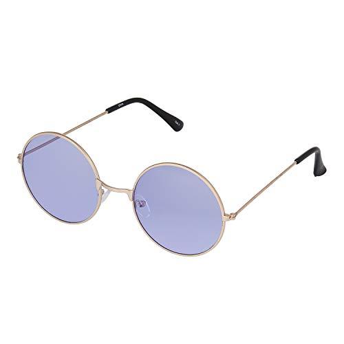 UltraByEasyPeasyStore Ultra Groß Goldrahmen Lila Gläser John Lennon Stile Erwachsene Retro Rund Sonnenbrille Männer Frauen UV400 Klassische Brillen Unisex Sonnenbrille Herren Sonnenbrille Damen
