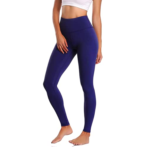 QTJY Leggings Deportivos de Color para Mujer, Pantalones de Yoga elásticos de Cintura Alta para Mujer, para Correr de Secado rápido, ES