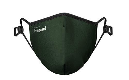 PL-FG-S-PT New Livinguard – PRO MASK | 3-Lagige Gesichtsmaske | Verstellbar, Waschbar, Wiederverwendbar (Forest Green, S)
