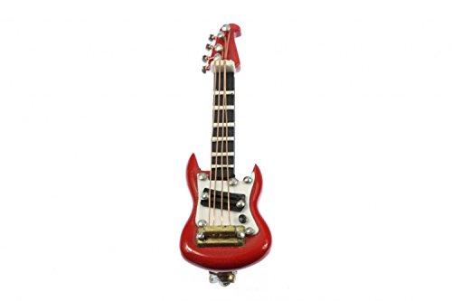 Miniblings Guitarra electrica Guitarra electrica Broche de Guitarra Guitarrista Cinta + Red...