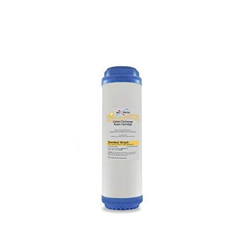 (1) Calcium, Magnesium TDS Hardness Reduction Water Softening Cation Resin Filters Compatible with 10' Standard Whole House Water Filter Systems