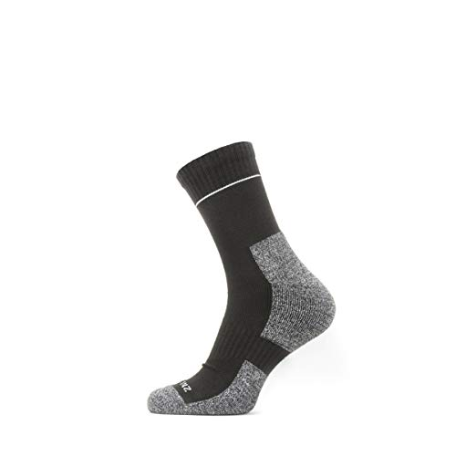 Seal Skinz Solo Quickdry Ankle Length, Calza Uomo, Black/Grey, S
