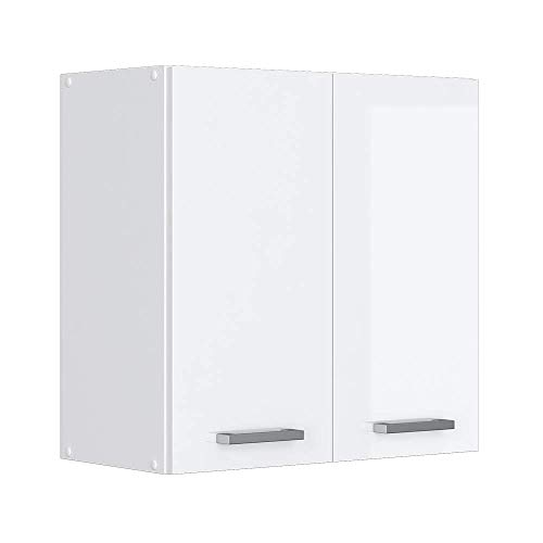 Vicco Küchenschrank Hängeschrank Unterschrank Küchenschränke Küchenunterschrank Arbeitsplatte, Möbel verfügbar in anthrazit und weiß (weiß ohne Arbeitsplatte, Hängeschrank 60 cm)