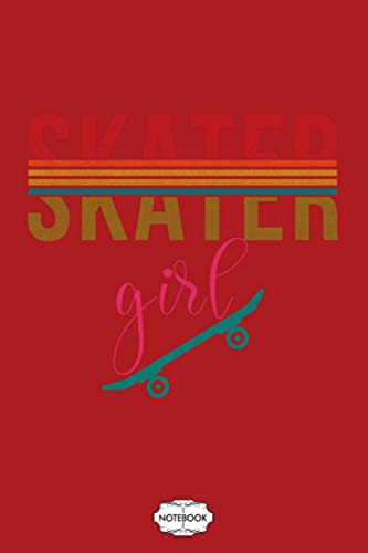 Retro Vintage Skater Girl Skateboarder Skateboarding 80s Notebook: Planner, Lined College Ruled Paper, Diary, Matte Finish Cover, Journal, 6x9 120 Pages