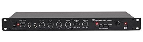 Rockville PPA20 Preamp Professional 1U Rack Mount Pre-Amplifier w/Crossover+EQ, Black