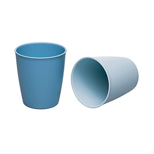 NIP Eat Green öko Trinkbecher Kinder & Baby ab 12 Monaten: Ohne Melamin, für Mikrowelle & Spülmaschine, 2 Stück, blau