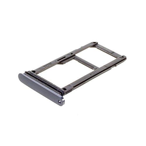 jbTec SD-Card/SIM-Tray/Halter passend für Samsung Galaxy S7 - Slot Karte Schlitten Rahmen Holder Handy Card Ersatz Fach, Farbe:Grau