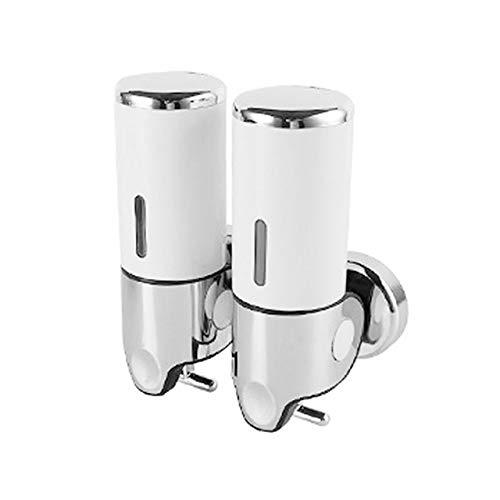 Dispensadores de jabón Alimentador del jabón líquido montado en la pared de la ducha Herramientas gel dispensadores de champú recipiente de cocina Bomba de Doble Mano de jabón de baño Botella # 9 Disp