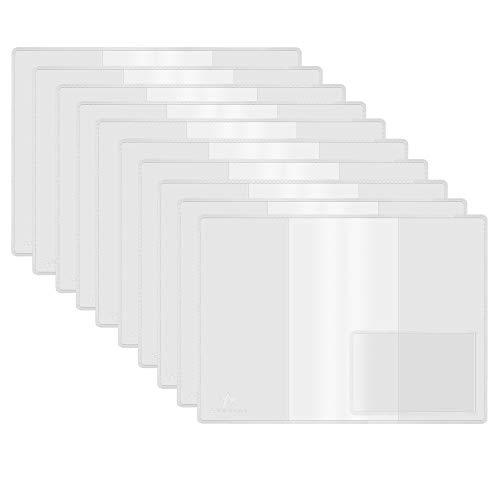 AMATHINGS 10 Stück Heimtierausweis Hülle/EU-Heimtierausweis Schutzhülle mit Visitenkarten-Einschub/Impfpass