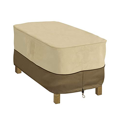 LUZEO Cubierta de Muebles de Jardín Fundas Impermeable Resistente al Polvo Anti-UV Protección Exterior Muebles de Jardín Cubiertas de Mesa y Silla 122x64x46cm