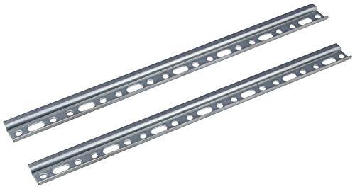 Gedotec Wandschiene Schrankaufhänger-Schiene Aufhängeschiene für Oberschränke | Länge 857 mm | Stahl verzinkt mit 100 kg Tragkraft | Schrank-Schiene für Küchen-Möbel | 2 Stück - Hänge-Schienen Metall