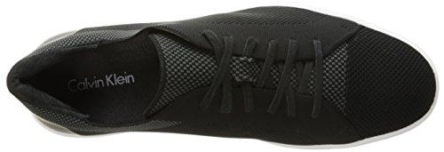 Calvin Klein Men's Ion Knit Weave Fashion Sneaker, Black, 12 M US