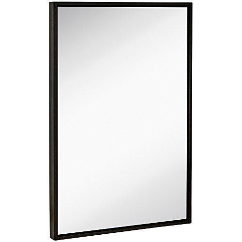 Hamilton Hills Clean Large Modern Black Frame Wall Mirror 24