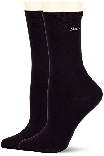 Marc O'Polo Body und Beach Damen Multipack W 2-Pack Socken, Schwarz, OneSize_2