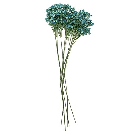 (INVITER) かすみ草 造花 セット 5本 ハーバリウム インテリア 花束 玄関 (ブルー)