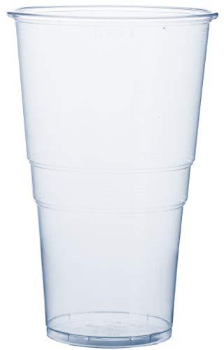 RAGO Plastikbecher 50 Stück, Premium EINWEG Becher 0,5l, Transparent 500 ml Groß