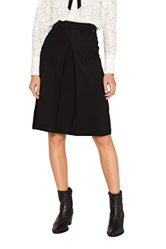 ESPRIT Damen 109Ee1D009 Rock, Schwarz (Black 001), Small (Herstellergröße: S)