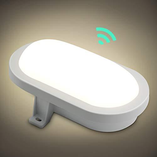 Oraymin 10W LED Wandleuchte mit Bewegungsmelder, IP44 4000K Neutralweiß LED Dämmerungssensor Badlampe,160° Wandlampe, Kellerlampe, WohnzimmerBadezimmer, Flurlampe, Balkonlampe