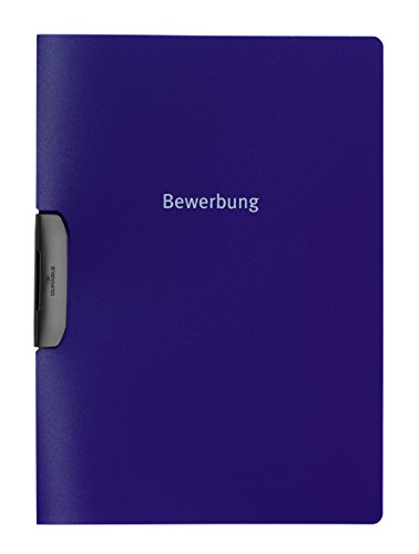 Durable Klemm-Mappe Duraswing job, Bewerbung, bis 30 Bl., blau