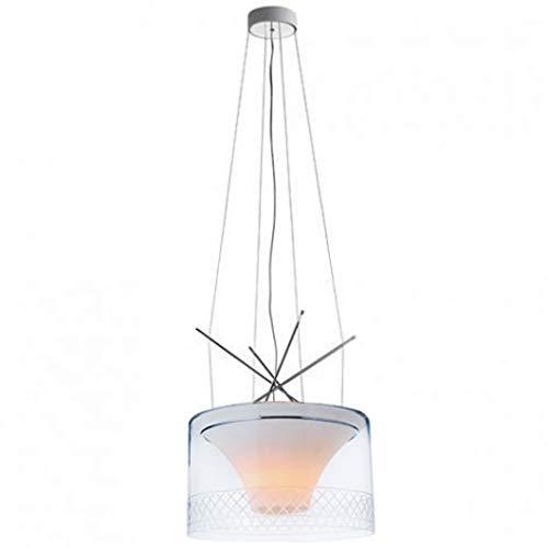 Lámpara colgante Volcano de vidrio satinado
