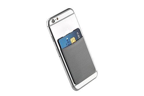 Cerbery - Titolare della Carta per Smartphone - Supporto Cellulare Custodia Cuffie - Compatibile con Apple iPhone Samsung Galaxy (Grigio)