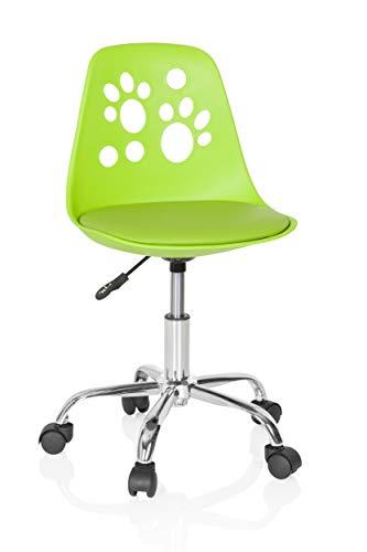 hjh OFFICE 742000 Sedia per Bambini Fancy I Ecopelle Verde Sedia Girevole Adattabile con Stile Vivace