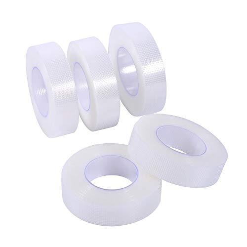 bande de cils bandes de cils en tissu blanc pour rallonge de faux cils 0 5 pouce x 10 verges 5 rouleaux