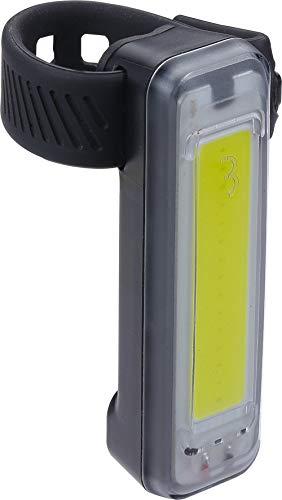 BBB Cycling Unisex-Adult BLS-136 Vorderlicht Signal  Weiße COB (Chip On Board) LED  Micro-USB-Kabel enthalten  Wasserdicht  MTB + Road + Urban  Laufzeit 24H, schwarz, 19 x 70 x 21 mm