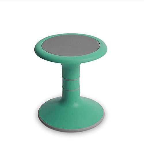Wobble Chair for Kids - Ergonomic Wobble Stool to Encourage Right Posture, Balance & Strengthen Core - School Classroom - Active Kid ADHD Fidget Seat (14' Fixed, Light Green)