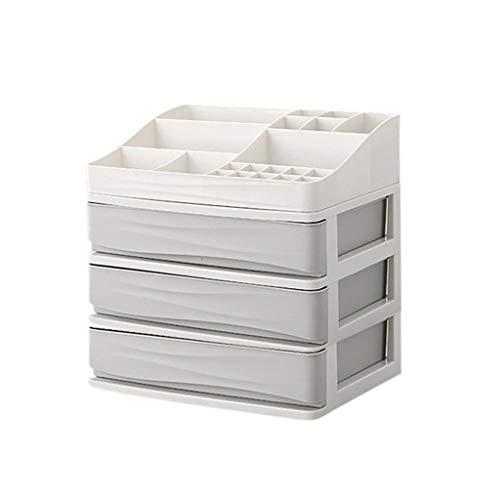 Yxsd en Plastique cosmétique tiroir Organisateur de Maquillage boîte de Rangement de Maquillage Titulaire du conteneur de Bureau Cas de Rangement Divers - Gris (Size : 3 Layer)