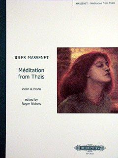 MEDITATIE (THAIS) - gearrangeerd voor viool - piano [Noten / Sheetmusic] Componis: MassENET JULES