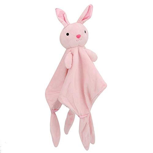 Toalla del apaciguamiento del bebé, toalla multifuncional de la seguridad del bebé lavable para el juguete lindo para el babero del bebé(Bunny)