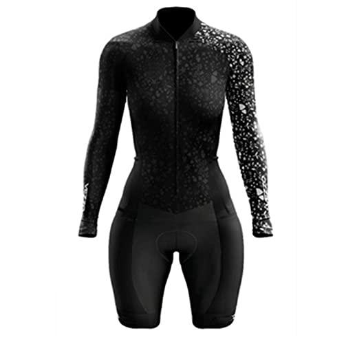 Jersey de ciclismo para mujer, mujer profesión triatlón traje ropa con traje de ciclismo acolchado 3D (Color : 3063, Size : Medium)