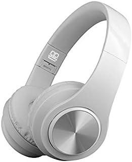 Fone de Ouvido Dobrável Microfone Bluetooth On Ear, Cancelamento de Ruído e Som Stéreo Integrado, Branco