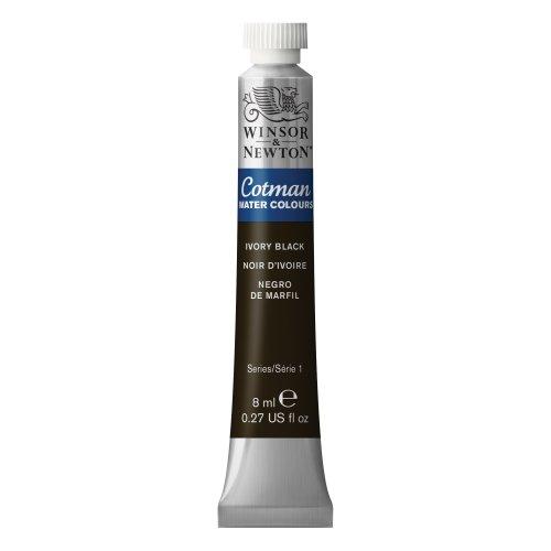 Winsor & Newton - Tubetto di colore a olio diluibile con acqua, 8 ml, colore: cremisi alizarina Ivory Black