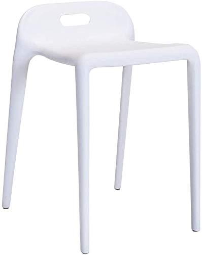 Silla de bar butacas de plástico, minimalista moderno y creativo del taburete de barra,White